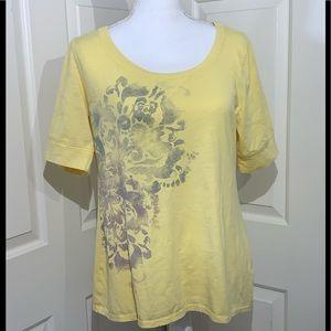 Sonoma V-Neck Short Sleeve Print T-Shirt